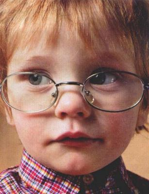 Child with glasses